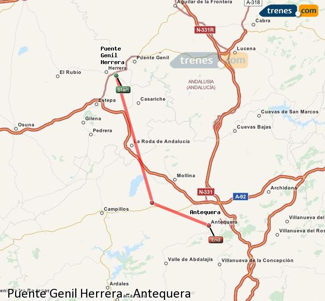 Enlarge map Trains Bridge Genil Herrera to Antequera