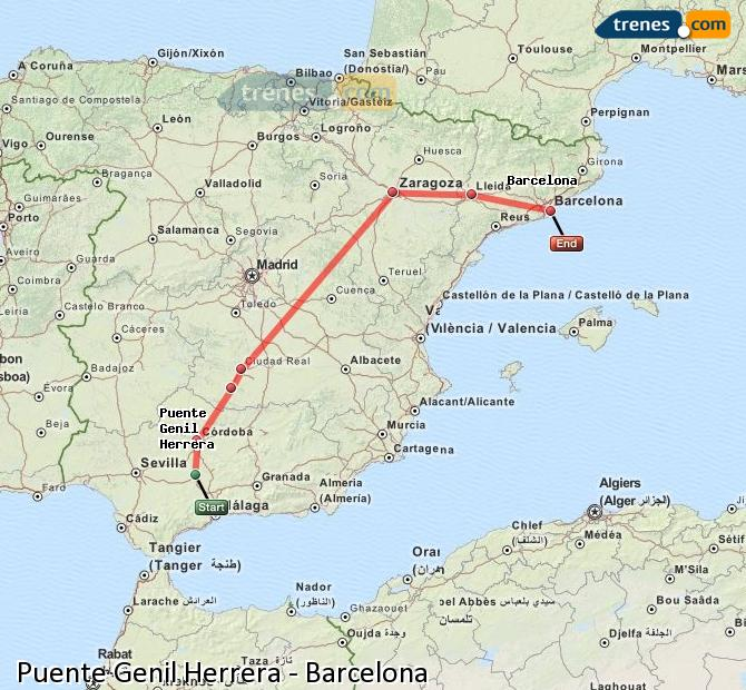 Enlarge map Trains Bridge Genil Herrera to Barcelona