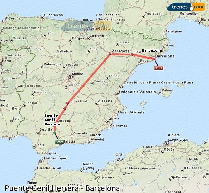 Ampliar mapa Trenes Puente Genil Herrera Barcelona
