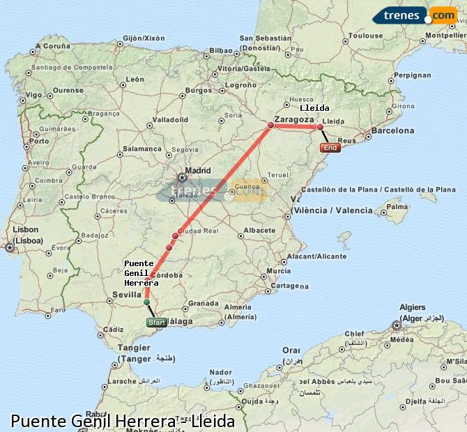 Enlarge map Trains Bridge Genil Herrera to Lleida
