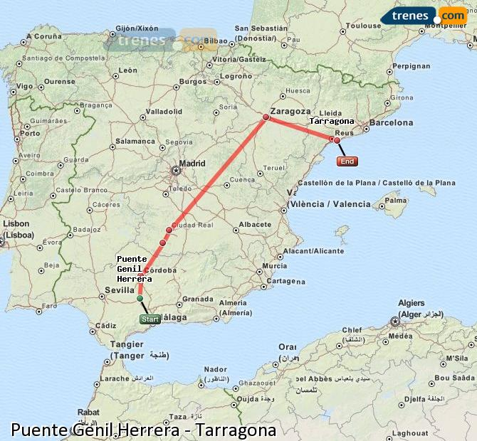 Enlarge map Trains Bridge Genil Herrera to Tarragona