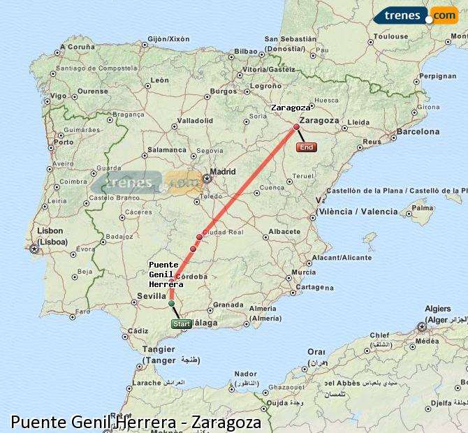 Enlarge map Trains Bridge Genil Herrera to Zaragoza
