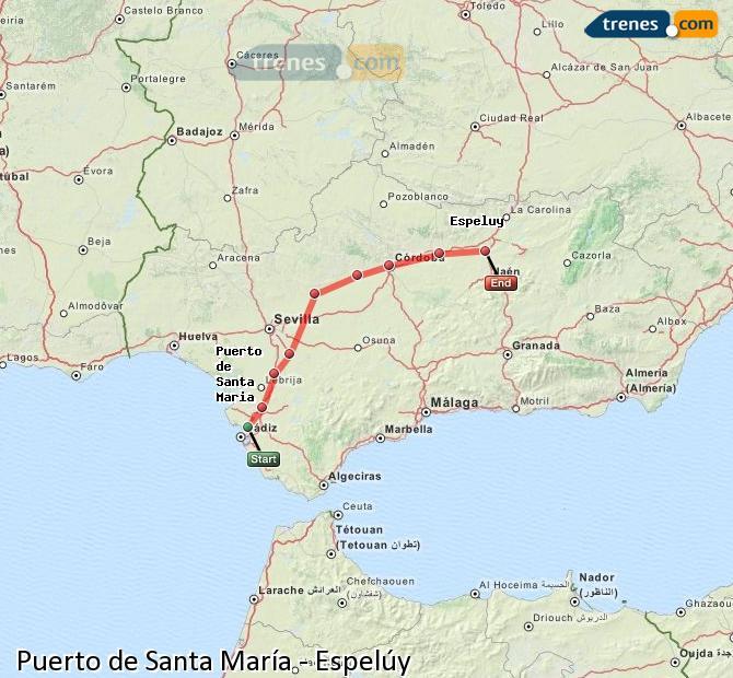 Ingrandisci la mappa Treni Puerto de Santa María Espelúy