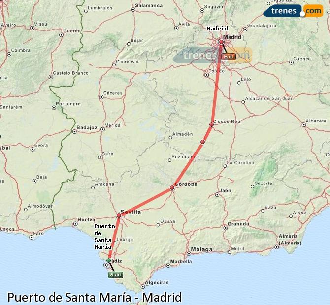 Trenes puerto de santa mar a madrid baratos billetes desde 43 25 - Estacion de tren puerto de santa maria ...