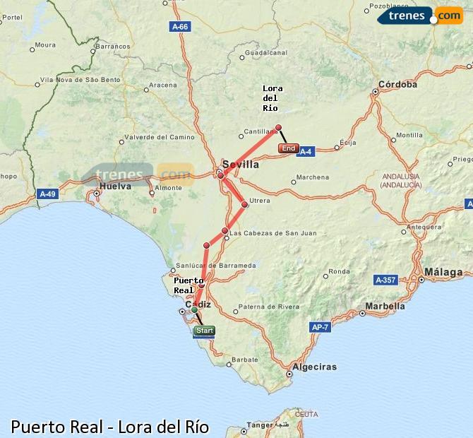 Trenes puerto real lora del r o baratos billetes desde 12 for Horario correos puerto real