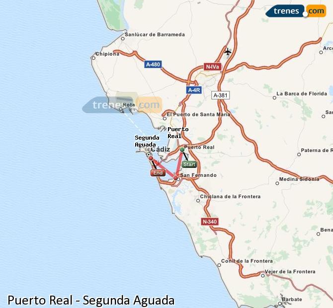 Karte vergrößern Züge Puerto Real Segunda Aguada