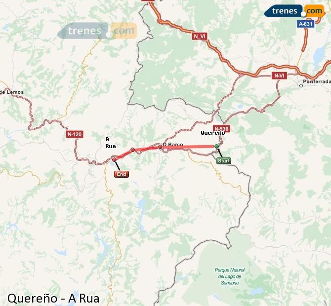 Karte vergrößern Züge Quereño A Rua