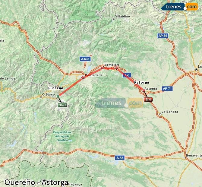 Karte vergrößern Züge Quereño Astorga