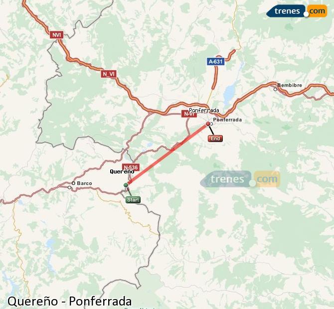 Karte vergrößern Züge Quereño Ponferrada