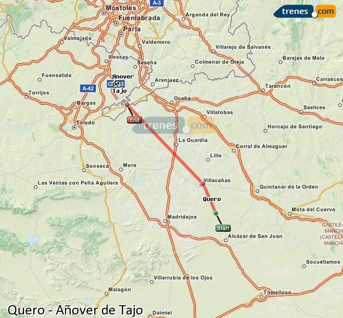 Karte vergrößern Züge Quero Añover de Tajo