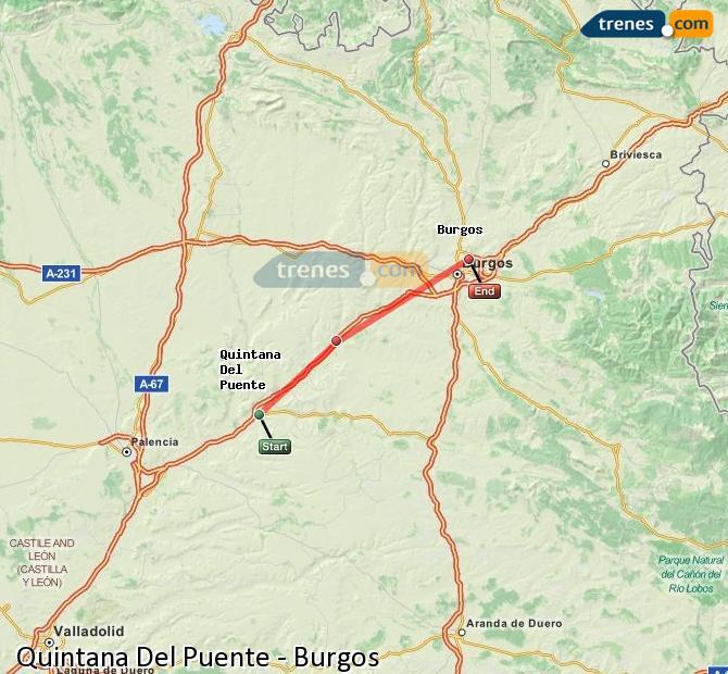 Agrandir la carte Trains Quintana Del Puente Burgos