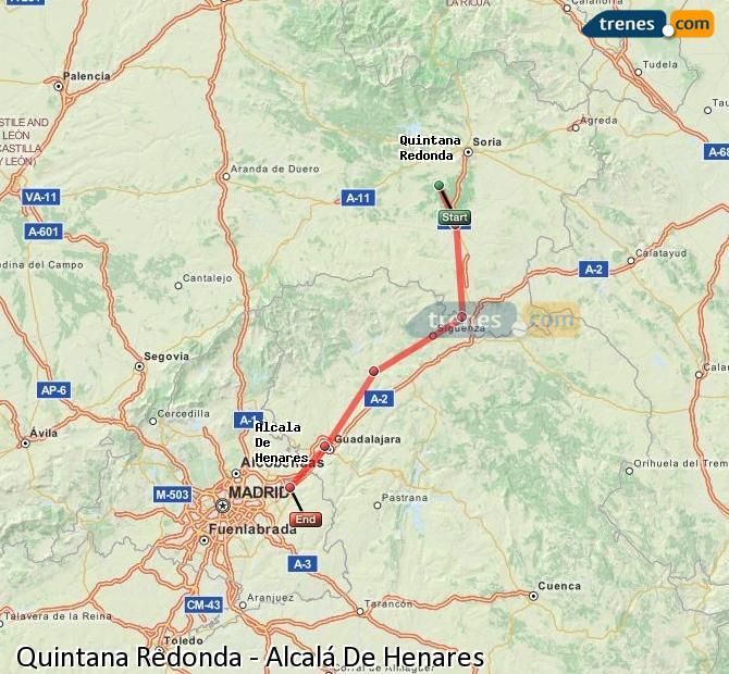 Karte vergrößern Züge Quintana Redonda Alcalá De Henares