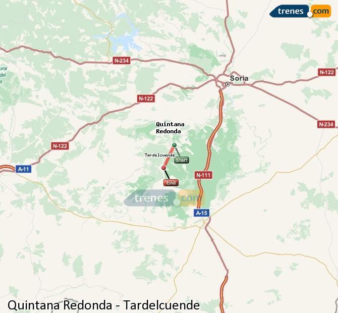 Karte vergrößern Züge Quintana Redonda Tardelcuende