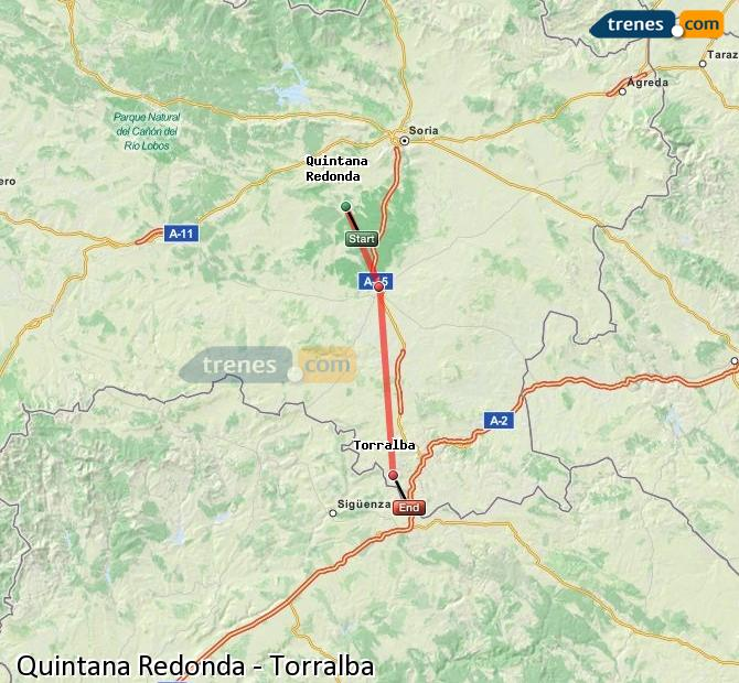 Enlarge map Trains Quintana Redonda to Torralba