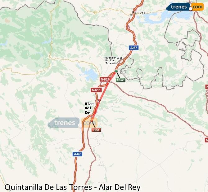 Ingrandisci la mappa Treni Quintanilla De Las Torres Alar Del Rey