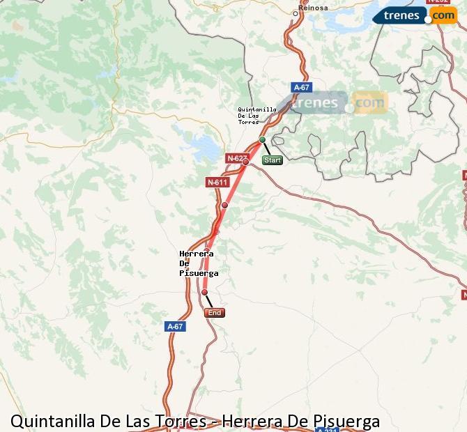Ampliar mapa Comboios Quintanilla De Las Torres Herrera De Pisuerga