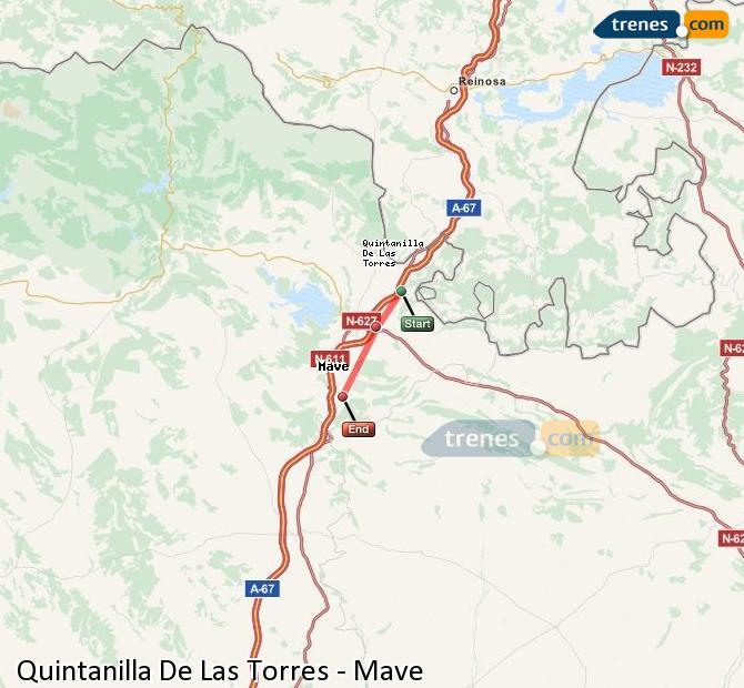 Karte vergrößern Züge Quintanilla De Las Torres Mave