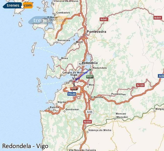 Ampliar mapa Comboios Redondela Vigo