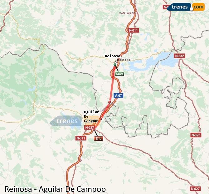 Ampliar mapa Trenes Reinosa Aguilar De Campoo