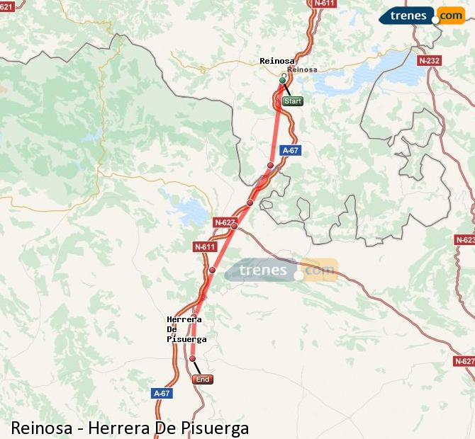 Ingrandisci la mappa Treni Reinosa Herrera De Pisuerga