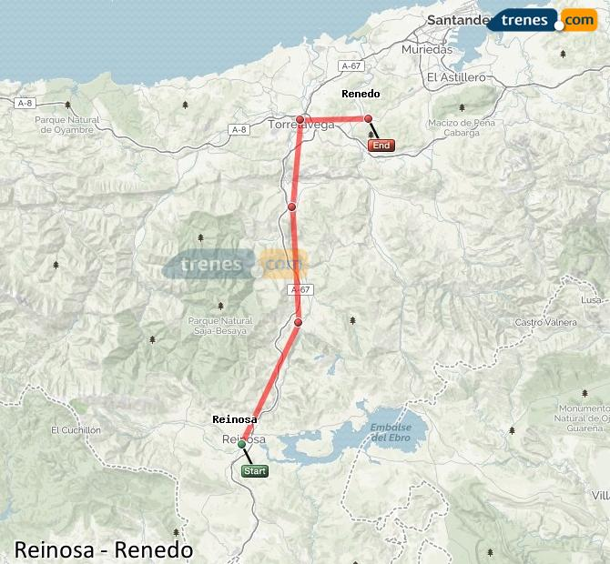 Ampliar mapa Comboios Reinosa Renedo