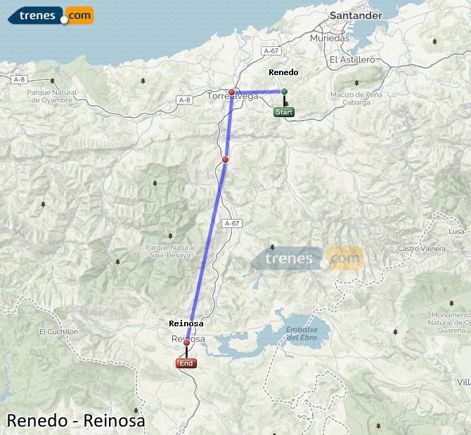 Ingrandisci la mappa Treni Renedo Reinosa