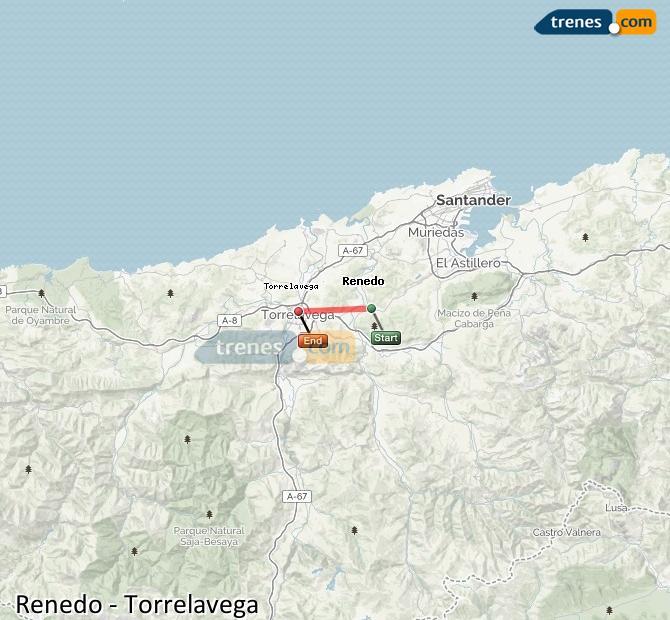 Ampliar mapa Comboios Renedo Torrelavega