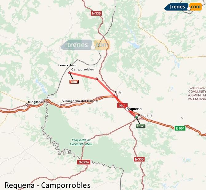 Ingrandisci la mappa Treni Requena Camporrobles