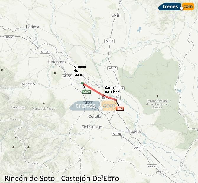 Karte vergrößern Züge Rincón de Soto Castejón De Ebro
