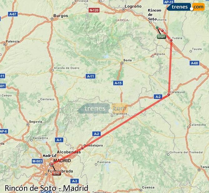 Ingrandisci la mappa Treni Rincón de Soto Madrid