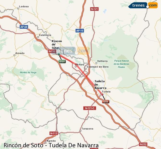 Karte vergrößern Züge Rincón de Soto Tudela De Navarra