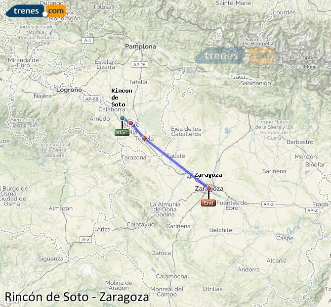 Karte vergrößern Züge Rincón de Soto Zaragoza