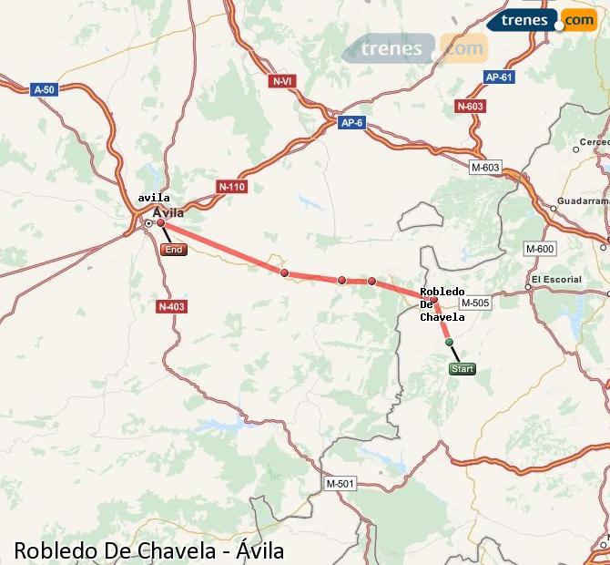 Ampliar mapa Trenes Robledo De Chavela Ávila