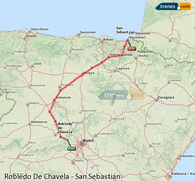Ampliar mapa Trenes Robledo De Chavela San Sebastián