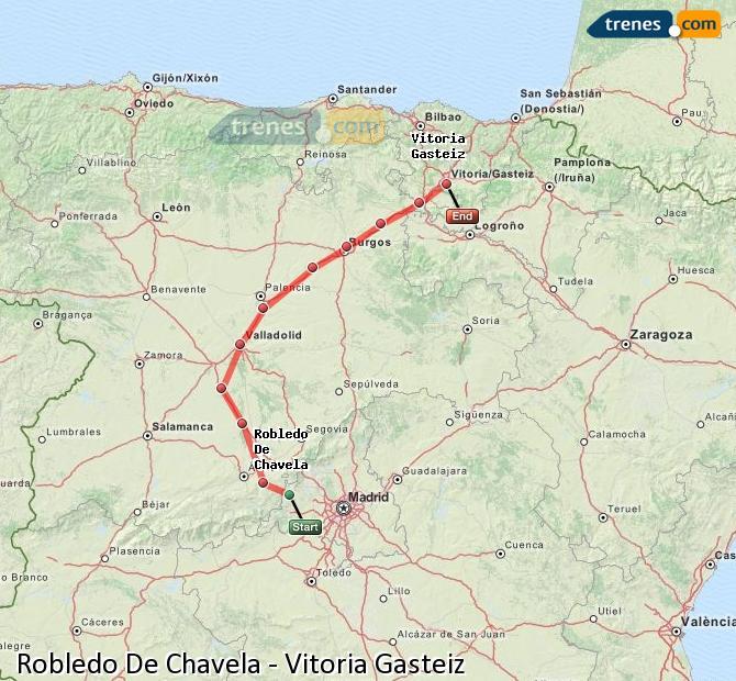 Ampliar mapa Comboios Robledo De Chavela Vitoria Gasteiz