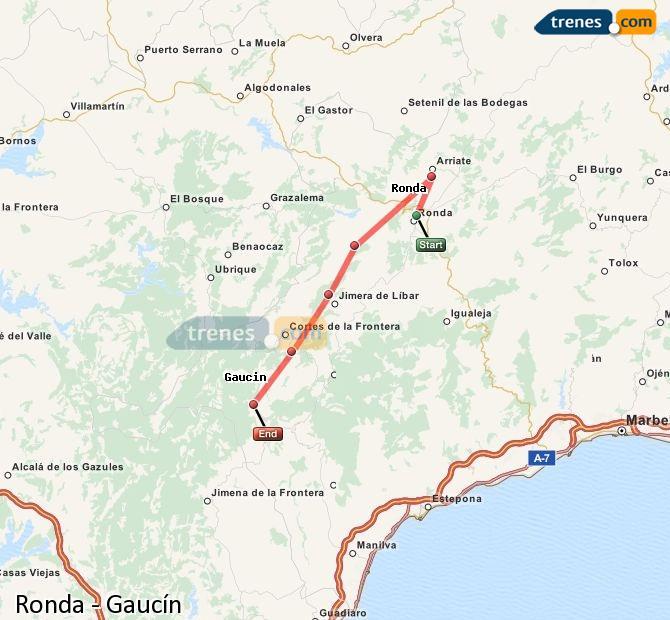 Ampliar mapa Trenes Ronda Gaucín