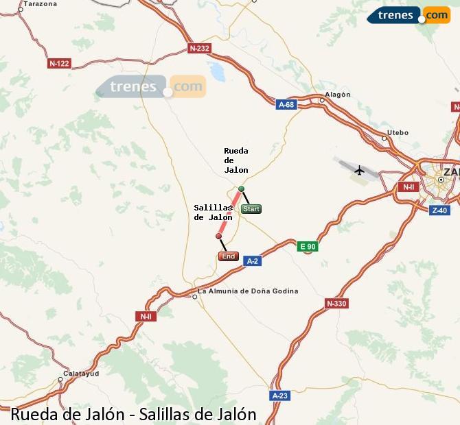 Karte vergrößern Züge Rueda de Jalón Salillas de Jalón