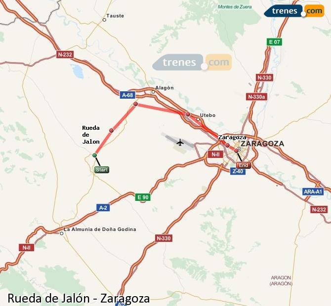 Ingrandisci la mappa Treni Rueda de Jalón Zaragoza