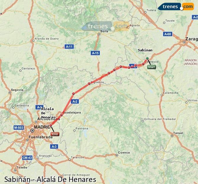 Ingrandisci la mappa Treni Sabiñán Alcalá De Henares