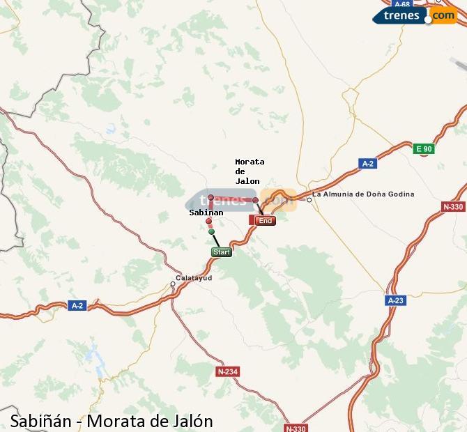 Ingrandisci la mappa Treni Sabiñán Morata de Jalón