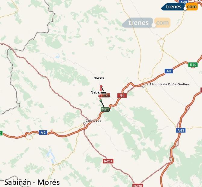 Ampliar mapa Trenes Sabiñán Morés