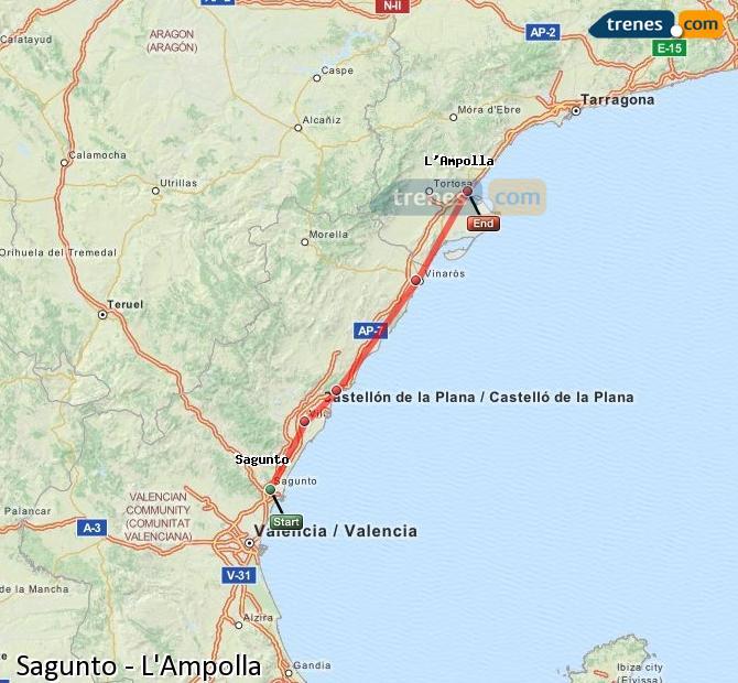Ampliar mapa Trenes Sagunto L'Ampolla