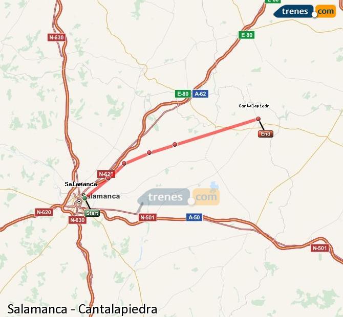 Karte vergrößern Züge Salamanca Cantalapiedra