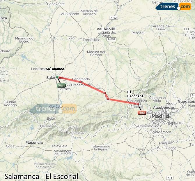 Ampliar mapa Trenes Salamanca El Escorial