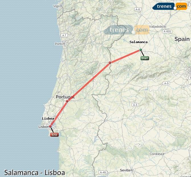 Karte vergrößern Züge Salamanca