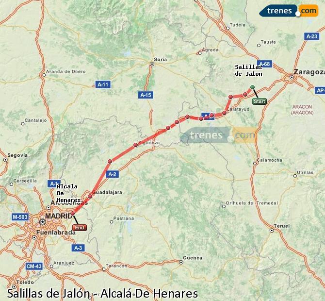 Karte vergrößern Züge Salillas de Jalón Alcalá De Henares