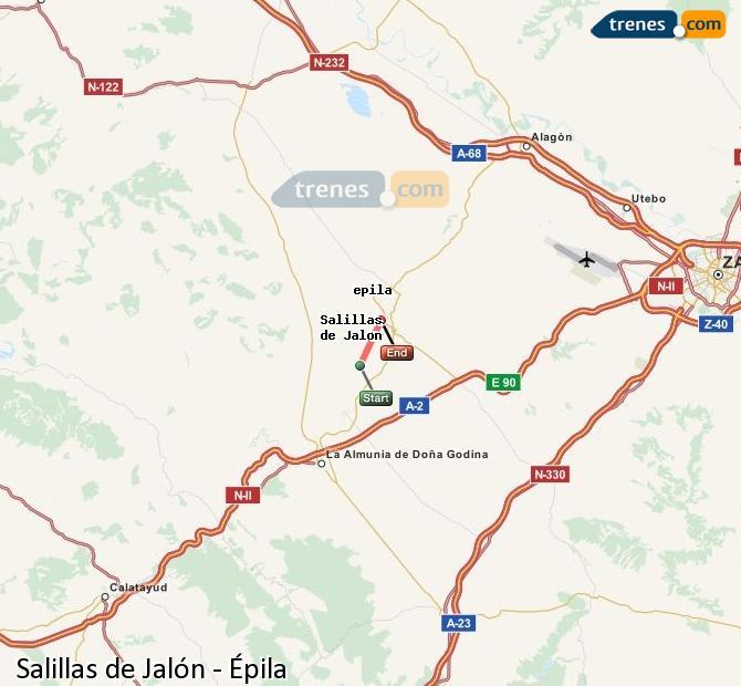 Karte vergrößern Züge Salillas de Jalón Épila