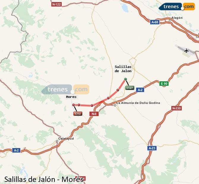 Ingrandisci la mappa Treni Salillas de Jalón Morés