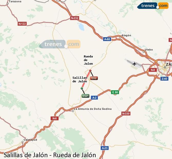 Ampliar mapa Comboios Salillas de Jalón Rueda de Jalón