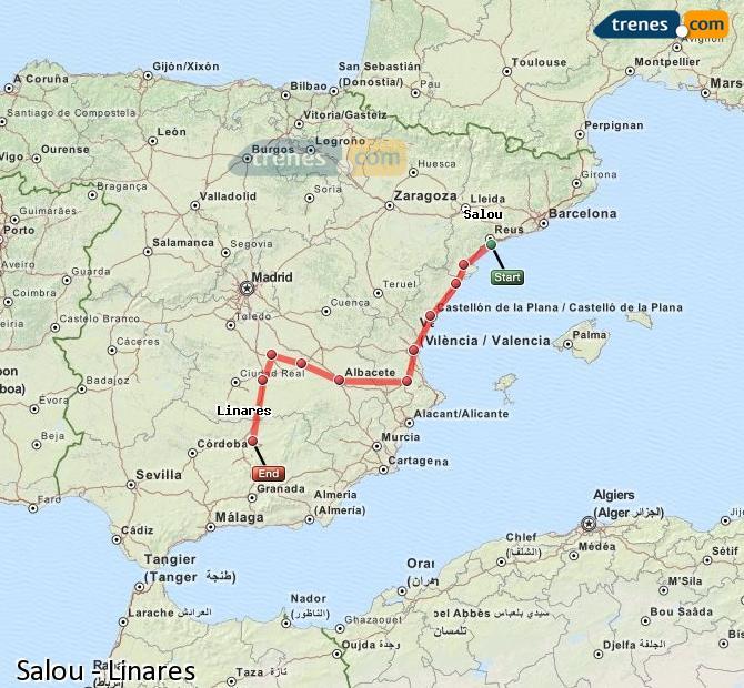 Ampliar mapa Trenes Salou Linares